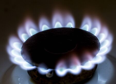 blue flame: blue flame of natural gas fire as the background