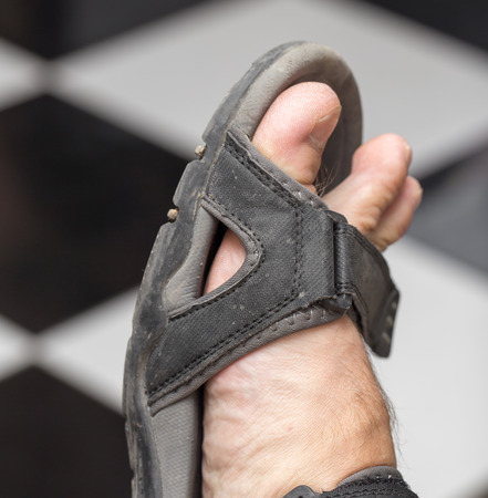 swelter: male foot in sandals