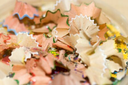 pencil point: shavings from a pencil point. macro