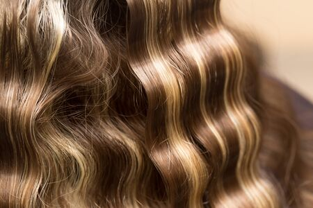 permanent wave: wavy hair as a background. texture