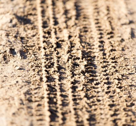 tread: trace of the tire tread
