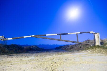 barrier in the moonlight night