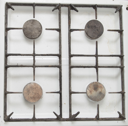 bakeoven: old gas stove as a background
