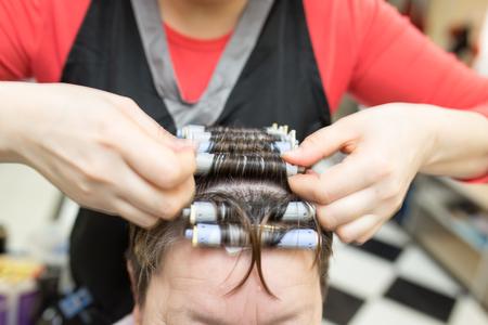 perm: perm in the beauty salon