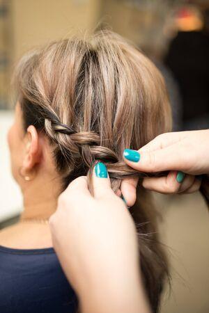 braids: weave braids in the beauty salon