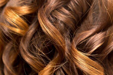 flaxen: wavy hair as a background. texture