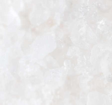 granule: white salt as background. macro