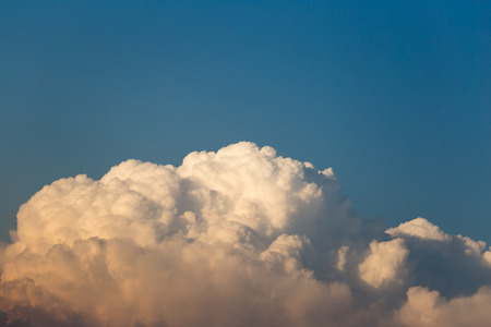 nebulosity: clouds in the sky at sunset Stock Photo