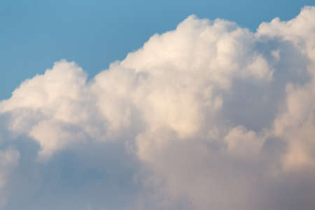 nimbi: clouds in the sky at sunset Stock Photo