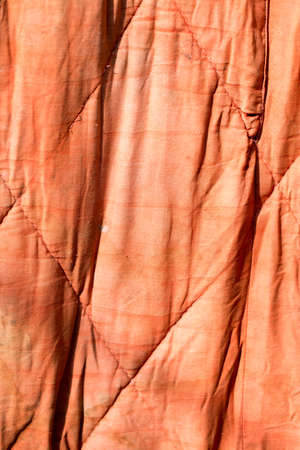 lint: old red cloth as background