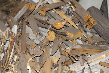 firewood: background of the wooden sticks of firewood Stock Photo