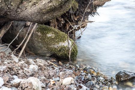environmentalism: mountain river in Kazakhstan in nature Stock Photo