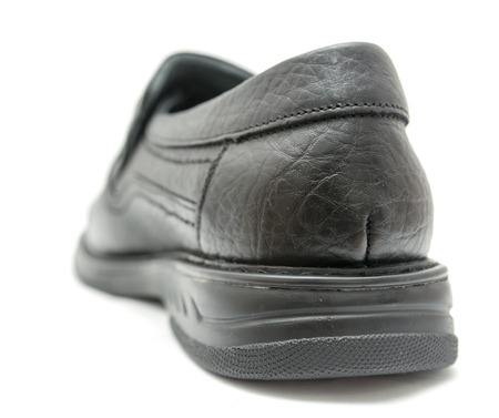 Black shoes on a white background Stock Photo