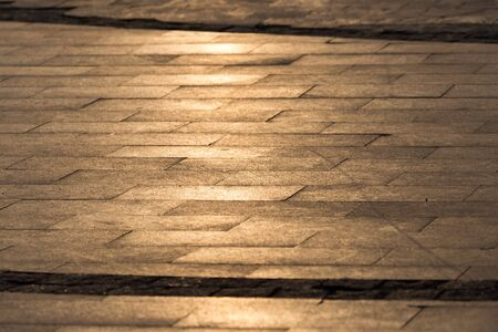 cobbles: cobbles at sunset as background Stock Photo