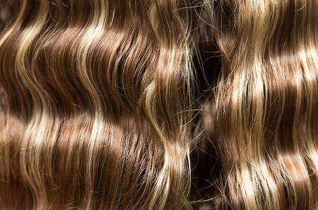 perming: wavy hair as a background. texture