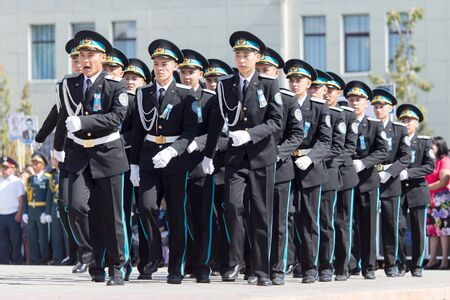 immortal: SHYMKENT city, KAZAKHSTAN MAY 9, 2015: Gala concert with the participation of the military, the Victory Day, in memory of the soldiers of the Great Patriotic War. Victory Day celebration in the city of Shymkent, Kazakhstan May 9, 2015 Editorial