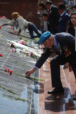 nazi: May 9, 2015. The celebration of 70 anniversary of the Victory in the Nazi Germany. Kazakhstan. Shymkent