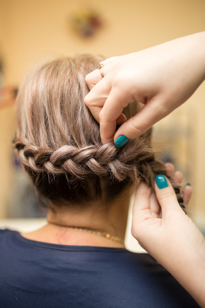 braids: weave braids in the beauty salon