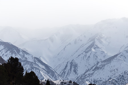 Nature in the Tien Shan mountains in winter. Kazakhstan Stock Photo