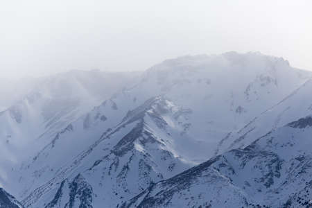 tien shan: snow-capped mountains of the Tien Shan in the winter. Kazakhstan