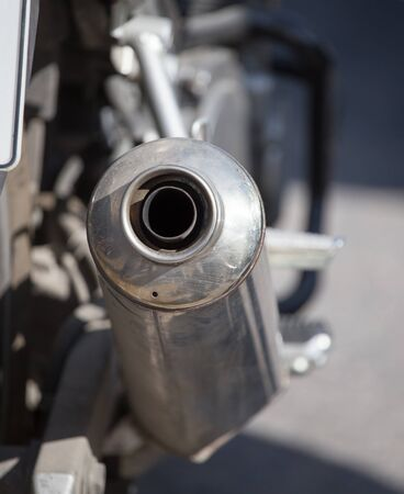 exhaust pipe: beautiful detail of the motorcycle. exhaust pipe Stock Photo