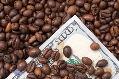 one hundred dollars: One hundred dollars in coffee beans