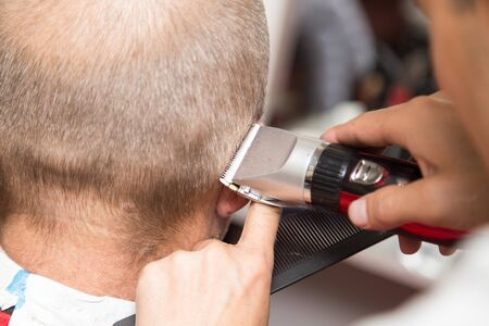 trimmer: Mens grooming trimmer in a beauty salon