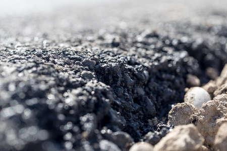 fresh black asphalt as background