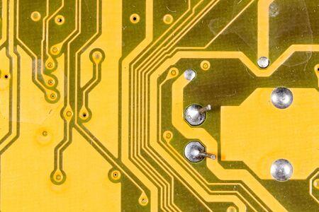 transistor: diagrama en la pizarra como fondo