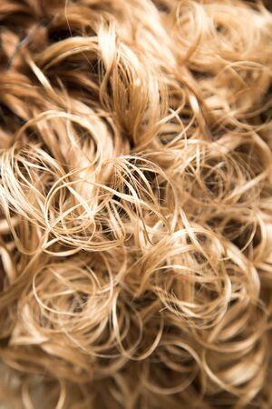 flaxen: wavy hair as background. texture