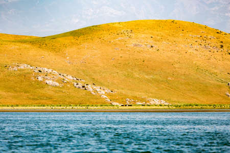 a beautiful lake in the mountains of Kazakhstan