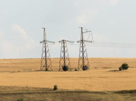 power poles in the desert