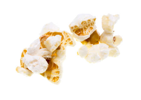 popcorn on a white background Stock Photo