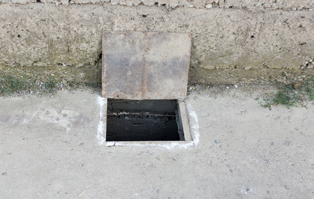 the hatch: hatch in concrete
