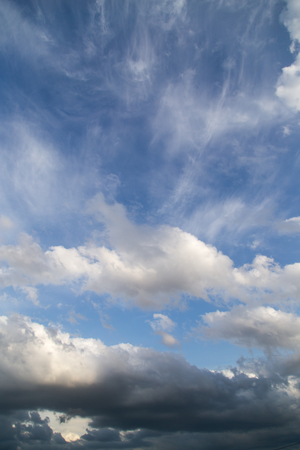 beautiful clouds against blue sky Stock Photo