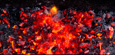 burning charcoal as background
