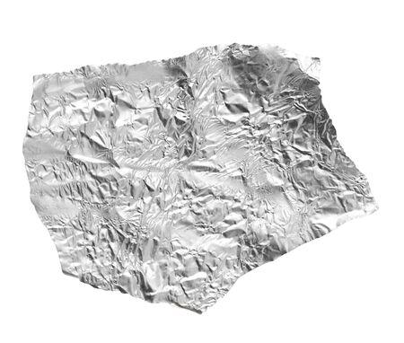 hoja de plata sobre un fondo blanco Foto de archivo