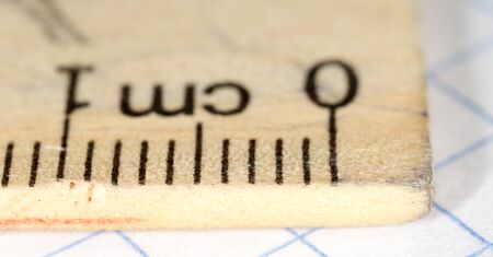 line 1 centimeter. macro
