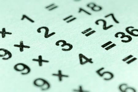 multiplication: multiplication table as a background. macro