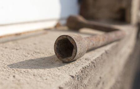 rusty: rusty wrench Stock Photo