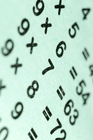 multiplicacion: multiplication table as a background. macro