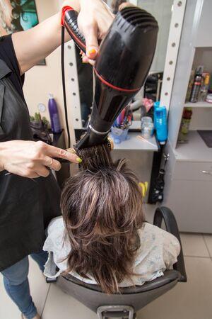 dryer: hair dryer hair dryer in a beauty salon