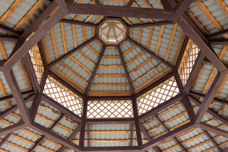 roof structure from the inside as a background