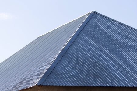metal roof of the house Stock Photo