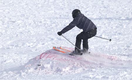 freeride: people skiing in the snow