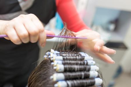perm in the beauty salon Zdjęcie Seryjne