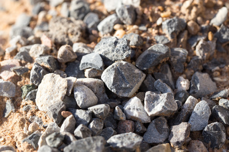 gravel with sand as background Stock Photo