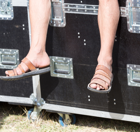 flops: flip flops men on foot