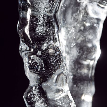 sopel lodu: icicle on a black background