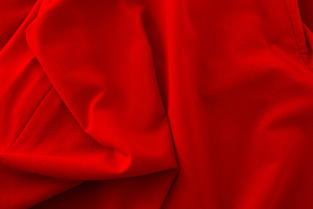 red cloth as background